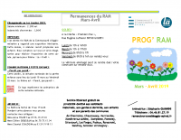 planning mars-avril Ouest + sercoeur padoux dompierre