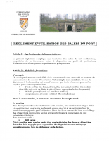reglement location du fort