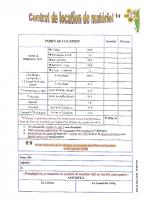 tarif location de matériel