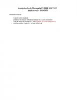 liste de docs a fournir ps 2020 2021