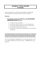 inscriptions maternelle